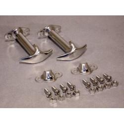 Hjelmlåse sæt, rustfri, CJ/YJ 42-95