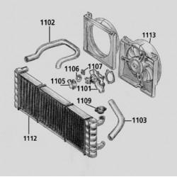 Køler 2.1L D. 84-93