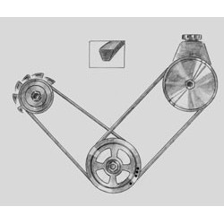 V-rem generator u/AC 2.5L 84-90
